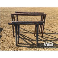 (2) SETS OF PIPE SAW HORSES