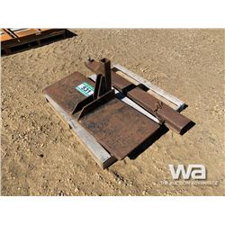 RECIEVER PLATE EXTENDED BALL HITCH & PALLET FORK
