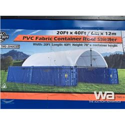 (UNUSED) TMG 2040CST 20 X 40 FT. CONTAINER SHELTER