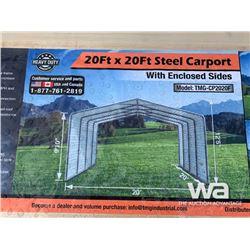 (UNUSED) TMG CP2020F 20 X 20 FT. STEEL CAR PORT