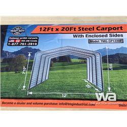 (UNUSED) TMG CP1220F 12 X 20 FT. STEEL CAR PORT