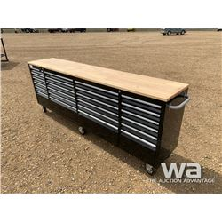 (UNUSED) 24 DRAWER 8 FT. TOOL CHEST WORK BENCH
