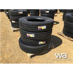 (UNUSED) (4) GRIZZLY 11R24.5 TRUCK TIRES