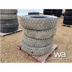 (4) 11R24.5 TRUCK TIRES