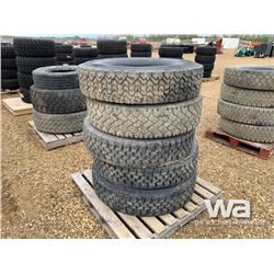 (5) 12R24.5 TRUCK TIRES