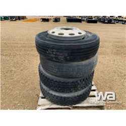 (4) 11R22.5 TRUCK TIRES