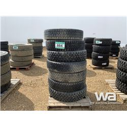(7) 11R22.5 TIRES