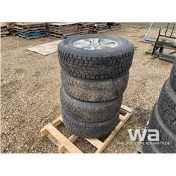 (4) DUNLOP 265/70R17 TIRES ON FORD RIMS