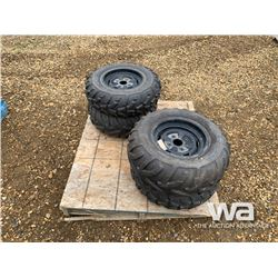 (4) ATV TIRES & RIMS