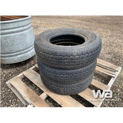 (3) ST205/75R14 TRAILER TIRES
