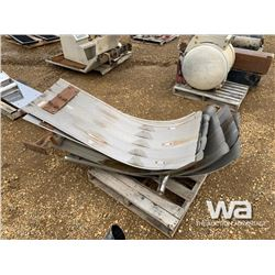(6) STAINLESS STEEL TRUCK FENDERS