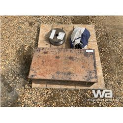 WELDING WIRE, TIRE CHAINS, STORAGE BOX