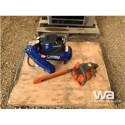 HUSQUVARNA 35 CHAINSAW & AIR COMPRESSOR