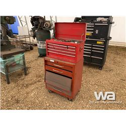 2 PIECE RED TOOL CABINET