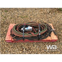 PALLET WITH CUTTING TORCH HOSE, WELDING CABLE WINC
