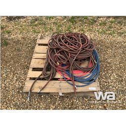 PALLET OF AIR HOSE HOSE & FITTINGS