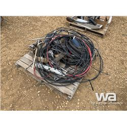 PALLET OF MISC. BOAT PARTS, CABLES, HOSES