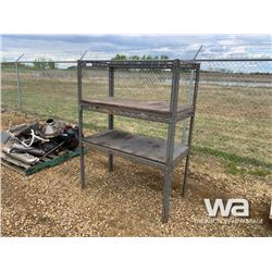 3 TIER GREY STEEL SHELF