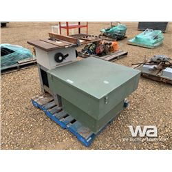 "ROCKWELL 7 1/4"" TABLE SAW & GREEN CABINET"