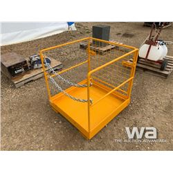 (UNUSED) SAFETY CAGE YELLOW FORKLIFT BASKET