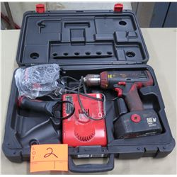 """Snap On Tools 1/2"""" Drill Driver 18V Output CDR6850 w/ Battery Charger & Case"""