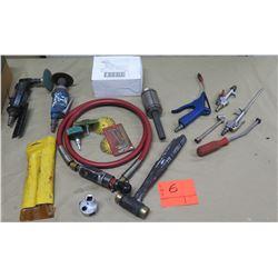 Mac Tools Air Die Grinder AG60AH, 3M Roloc Bristle Disc, Tire Gauge, Air Tools