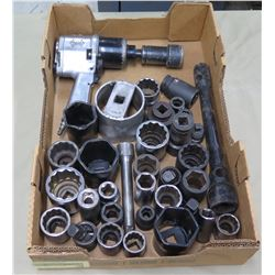Air Impact Wrench & Multiple Misc Size Sockets