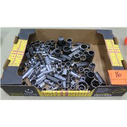 Box Multiple Misc Size Air & Hand Tool Sockets, Connectors, etc