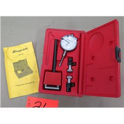 "Snap On Tools 1"" Range Dial Indicator Set 2PMF136 in Red Hard Case"