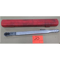 Snap On Tools Click Type Torque Wrench in Red Hard Case