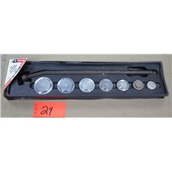 Snap On Tools 8 Piece Freeze Plug Installer Set in Hard Case