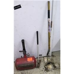 Red Air Tank, TNT-100 Mount/Dismount Tool, & Tire Tool