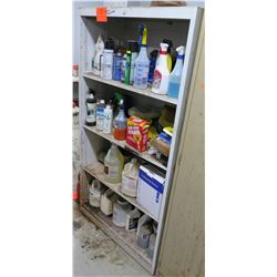 "Shelf & Contents:  Lubricants, Pest Sprays, Acrylic Urethane, Citrus Clean, Etc (36""W x 17""D x 67""H)"