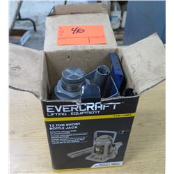 Evercraft Lifting Equipment 12 Ton Heavy Duty Short Bottle Jack