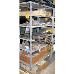 Shelf & Contents:   Windshield Wipers, Handles, Brake Drum, Bumper Latch etc
