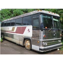 1982 MCI MC9 Coach 50+ Passenger Bus, 8V718 8-Cylinder, Diesel, 5-Speed Standard