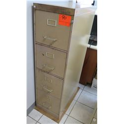 "Beige 4-Drawer Metal Filing Cabinet, 15""W x 27""D, 52""H"