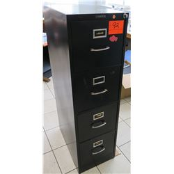 "Black 4-Drawer Metal Filing Cabinet, 15""W x 25""D, 52""H"