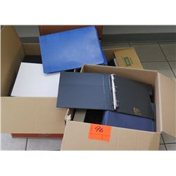 Qty 2 Boxes Misc Color 3- Ring Binders