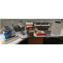 Multiple Office Supplies: Electric Typewriter, Adding Machine, Folders, etc