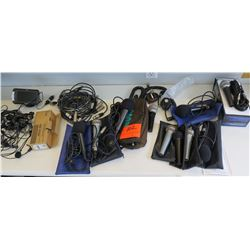 Multiple Misc iCom Hand Microphones HM-100N w/ Cables