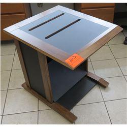 "Dot Matrix Printer Table w/ Continuous Paper Slats, 24""W x 28""D x 27""H"