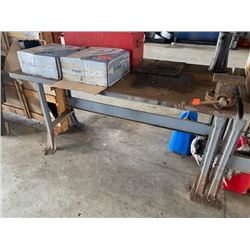 "Industrial Heavy Duty Metal Shop Table with Clamp, 5ft x 30"" (Table Only)"