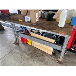 "Industrial Heavy Duty Metal Shop Table, 5ft x 30"" (Table Only)"