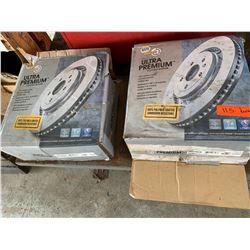 Qty 2 NAPA Ultra Premium Coated Brake Rotors, 86528CR, Unused