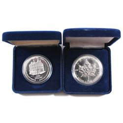 1994 Canada $50 1oz 'Eaton 125' Timothy Eaton Medallion & 1994 Canada 1oz Maple Leaf .9999 Fine Silv