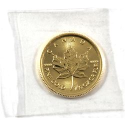 2018 Canada 1/10oz .9999 Fine Gold Maple Leaf in Sealed Plastic (TAX Exempt).