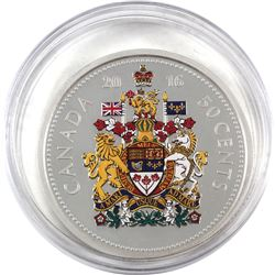 2016 Canada 50-cents 5oz Big Coin Fine Silver Coin in Capsule (capsule is lightly scratched). TAX Ex