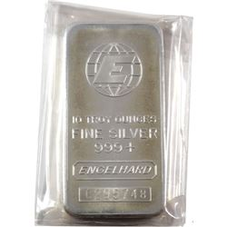 10oz Engelhard .999 Fine Silver Bar (TAX Exempt)