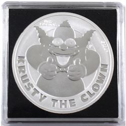 2020 Tuvalu 1oz Krusty the Clown .9999 Fine Silver Coin in Capsule (TAX Exempt).